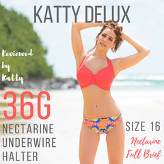 Katty Delux nectarine underwire halter review