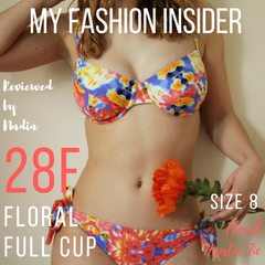 My Fashion Insider's review of Lilly & Lime floral full cup bikini top and hipster tie bikini bottoms