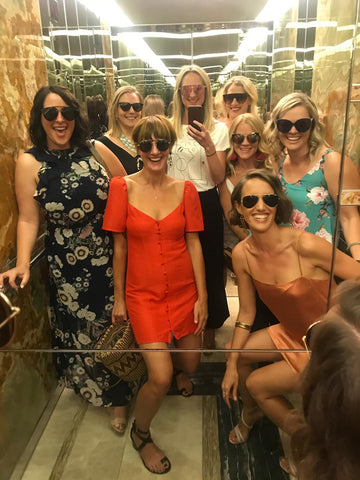 The girls all wearing Skye & Lach sunnies