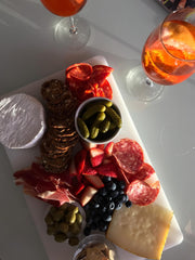 Cheese platter and Aperol Spritz