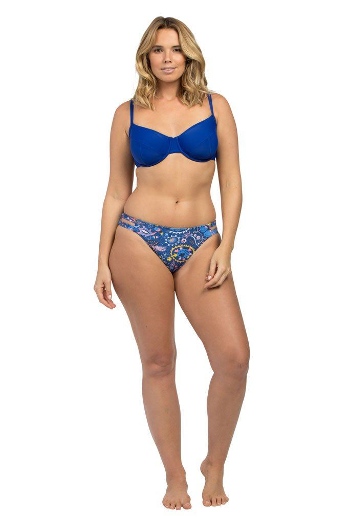 Royal Blue Full Cup Bikini Top