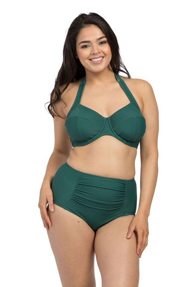 Forest Green Underwire Halter