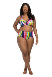 Rainbow Stripe Underwire Halter Underwire Halter Lilly & Lime