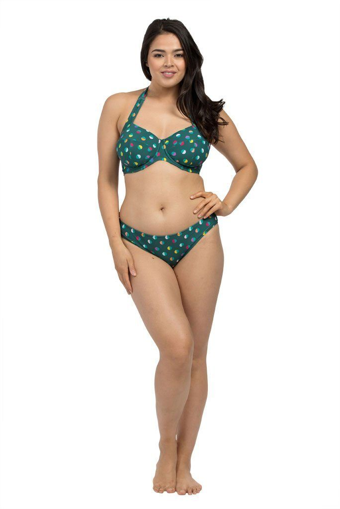 Spot Forest Green Basic Brief Bikini Bottoms