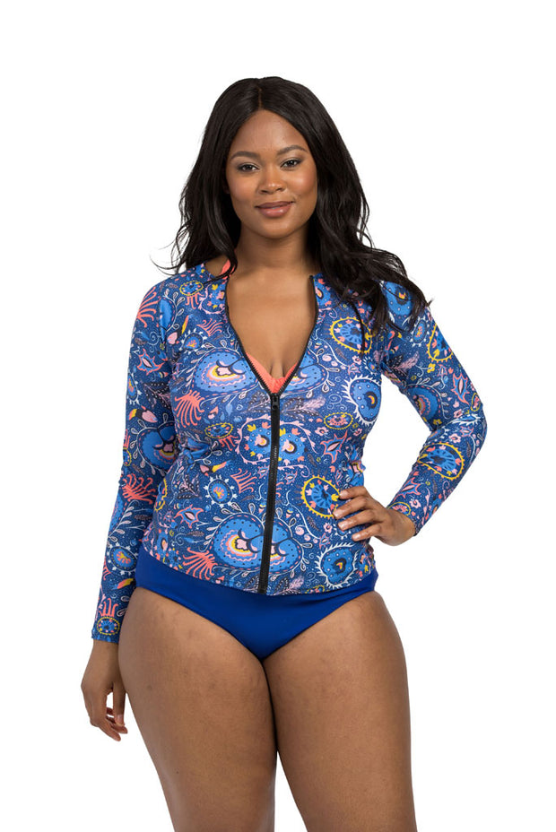 Suzani Indigo Rash Guard
