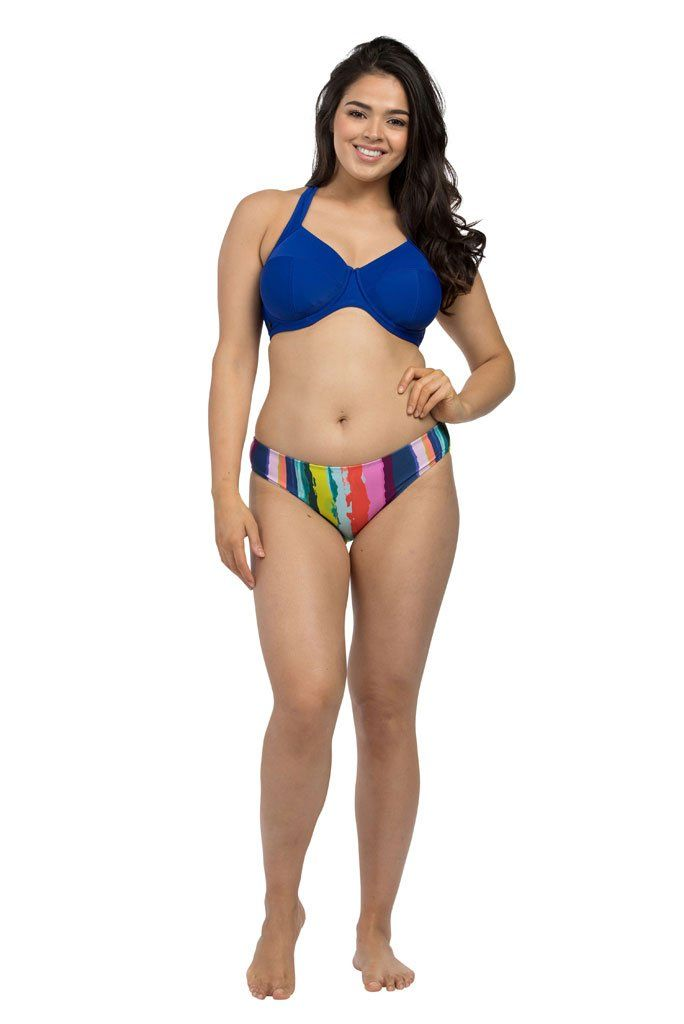 Royal Blue Underwire Halter Bikini Top