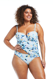 Fleurs Aqua Tankini and Basic Brief