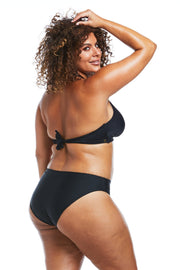 Black High Leg Brief Bikini Bottoms