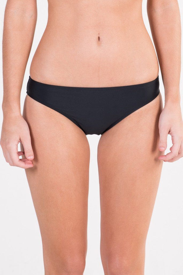 Black Basic Brief Bikini Bottoms