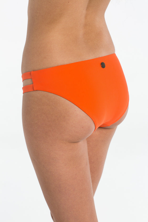 Coral Cut Out Brief Bikini bottoms