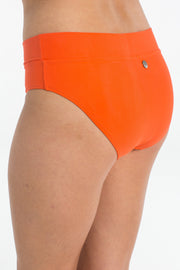 Coral Full Brief Bikini Bottoms