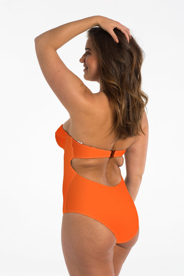 Coral Balconette One Piece