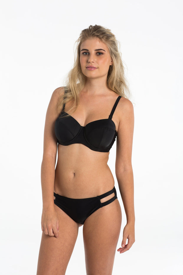 Black Cut Out Brief