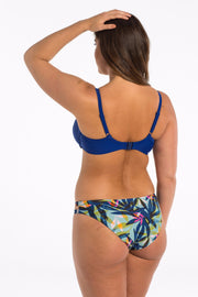Azure Palm blue floral cut out bikini bottoms
