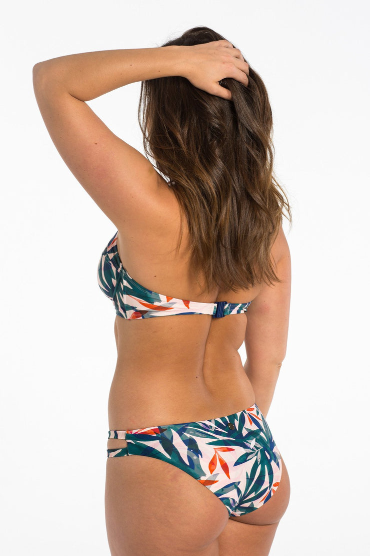 Sorbet Palm Cut Out Brief bikini bottoms