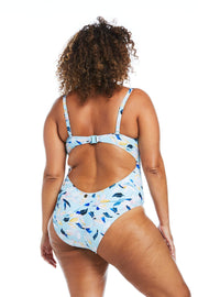 Fleurs Aqua Blaconette One Piece
