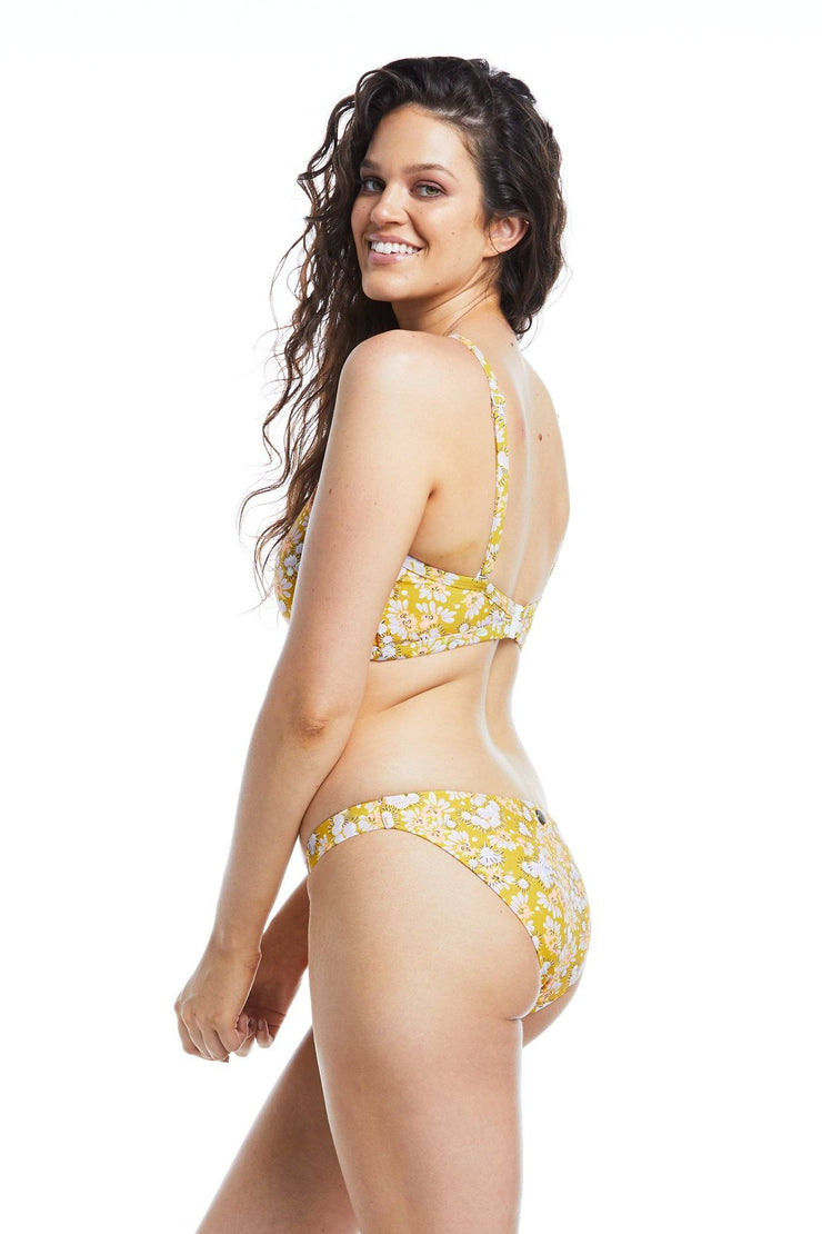 Golden Blossom Hipster Brief