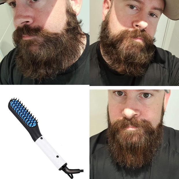 Heated beard straightener - plus FREE beard butter
