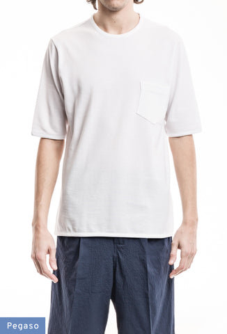 Classic Pocket T-Shirt - Piquet White