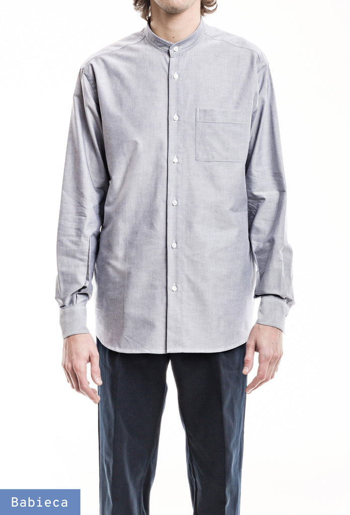 Original Band Collar Shirt - Oxford Light Blue