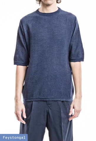 Knit T-Shirt - Blue