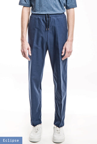 Classic Elastic Trousers - Heavy Oxford Blue