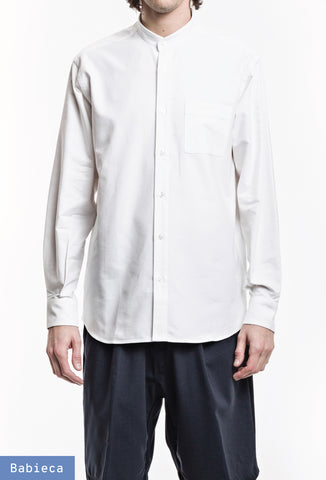 Original Band Collar Shirt - Oxford White