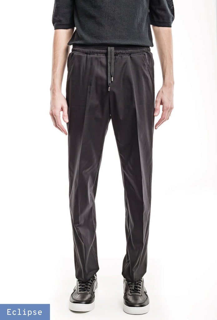 Classic Elastic Trousers - Twill Black