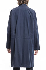 Wide Trench Coat - Canvas Navy