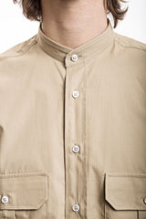 Wide Fire Shirt - Popeline Beige