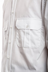 Wide Fire Shirt - Popeline White