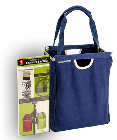 Blue Canvas Pannier Bundle