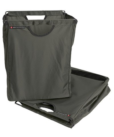 Charcoal Gray Packbasket w/ folded bag