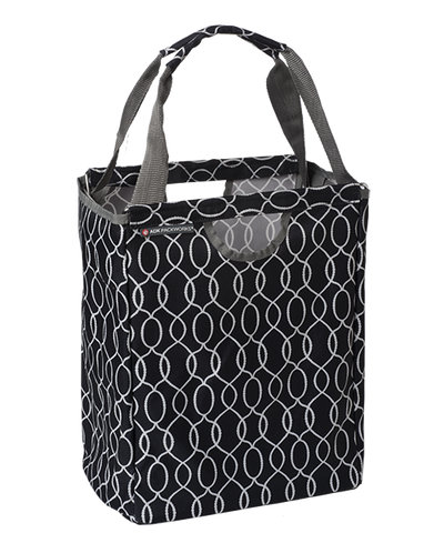 Black Ogee Packbasket