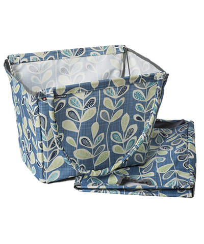 Botanical Vines Market Basket with folded bag