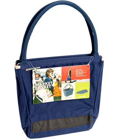 Blue Canvas Market Basket