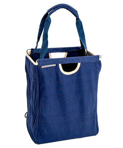 Blue Canvas Packbasket w/ Straps