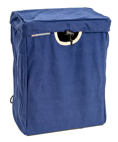 Blue Canvas Packbasket w/ Lid
