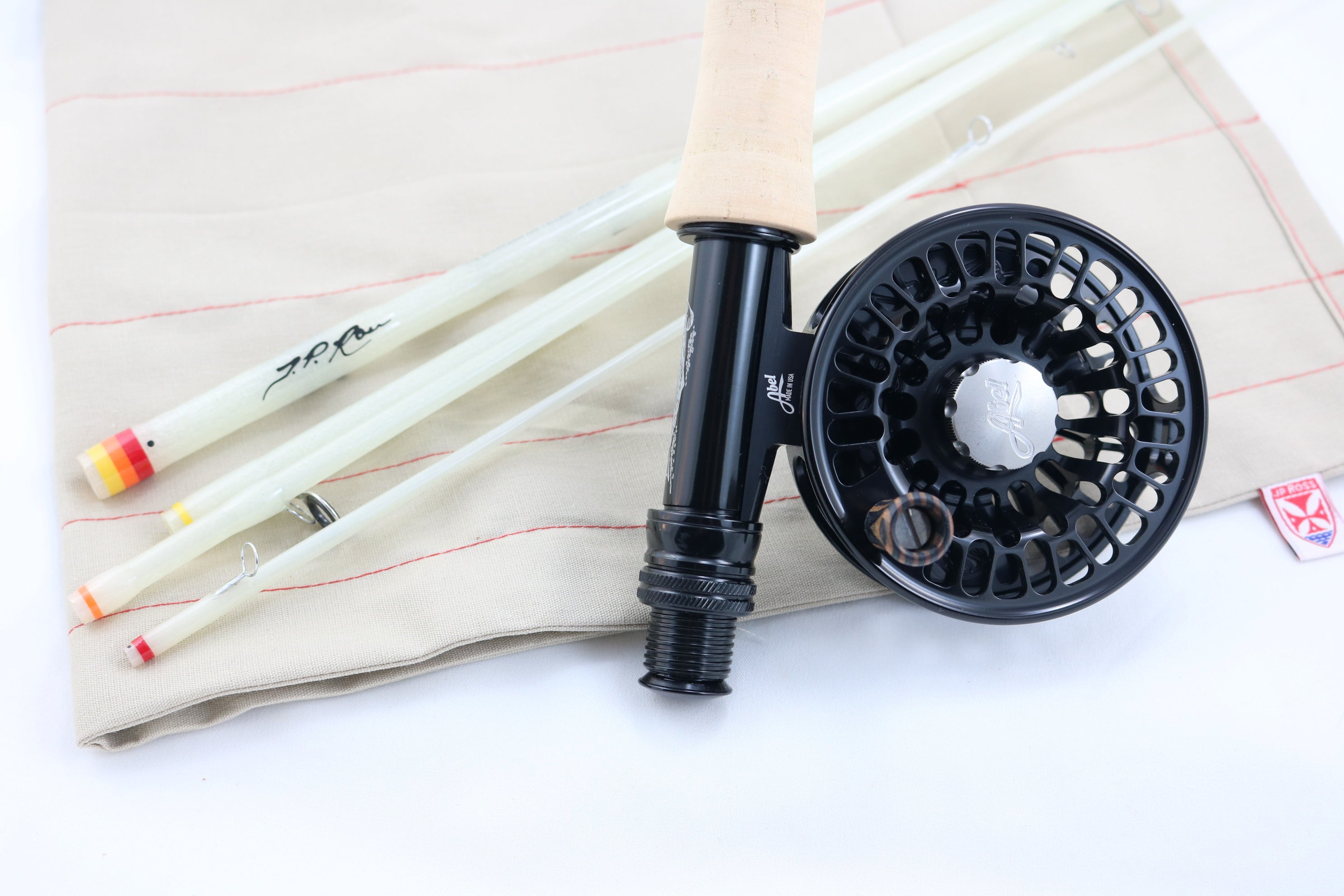 "Muir 7 foot 3 weight 5 piece with Abel TR reel. ""Passport to Wilderness"" theme rod combo"