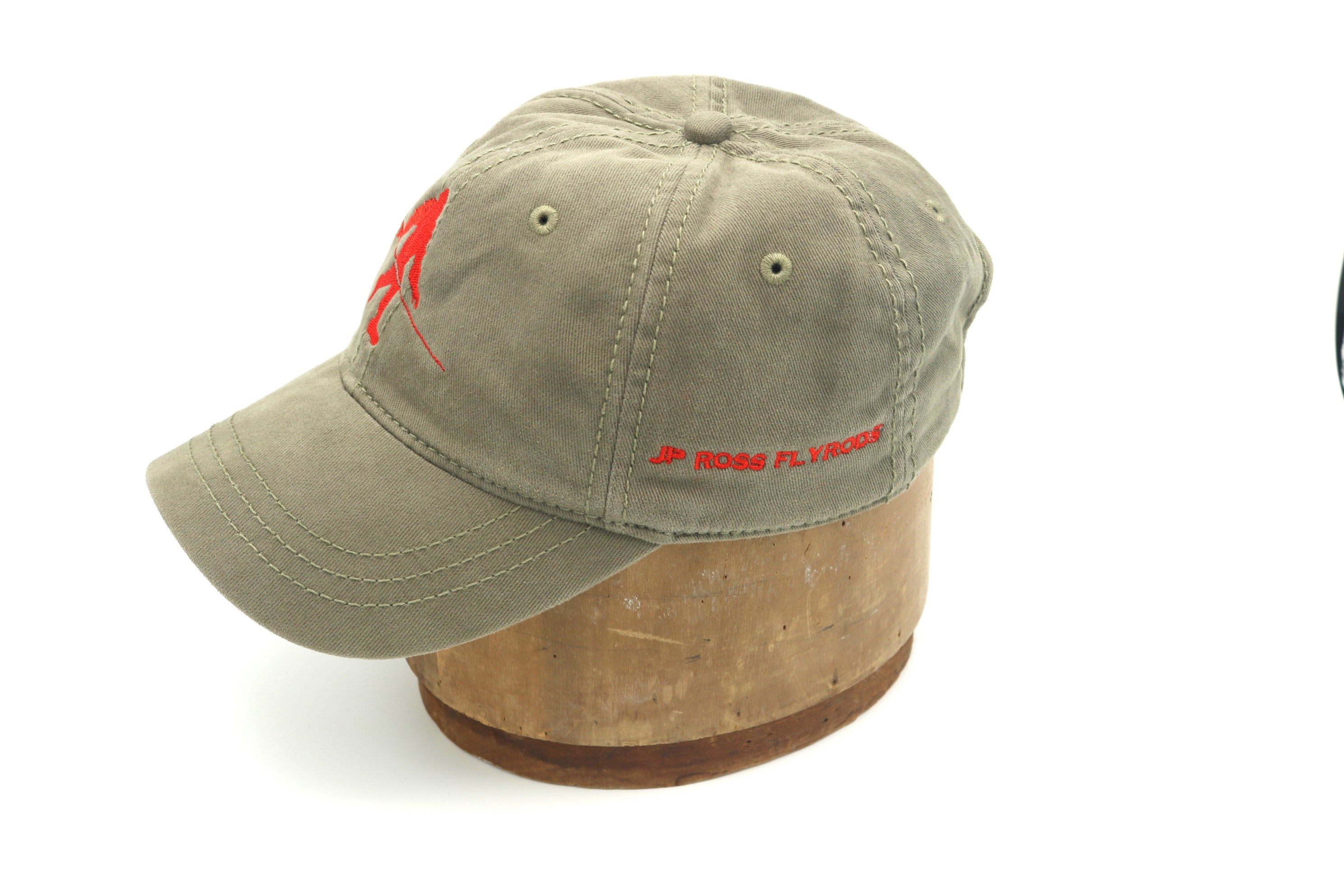 Get Outside. Bigfoot with fly rod olive cap