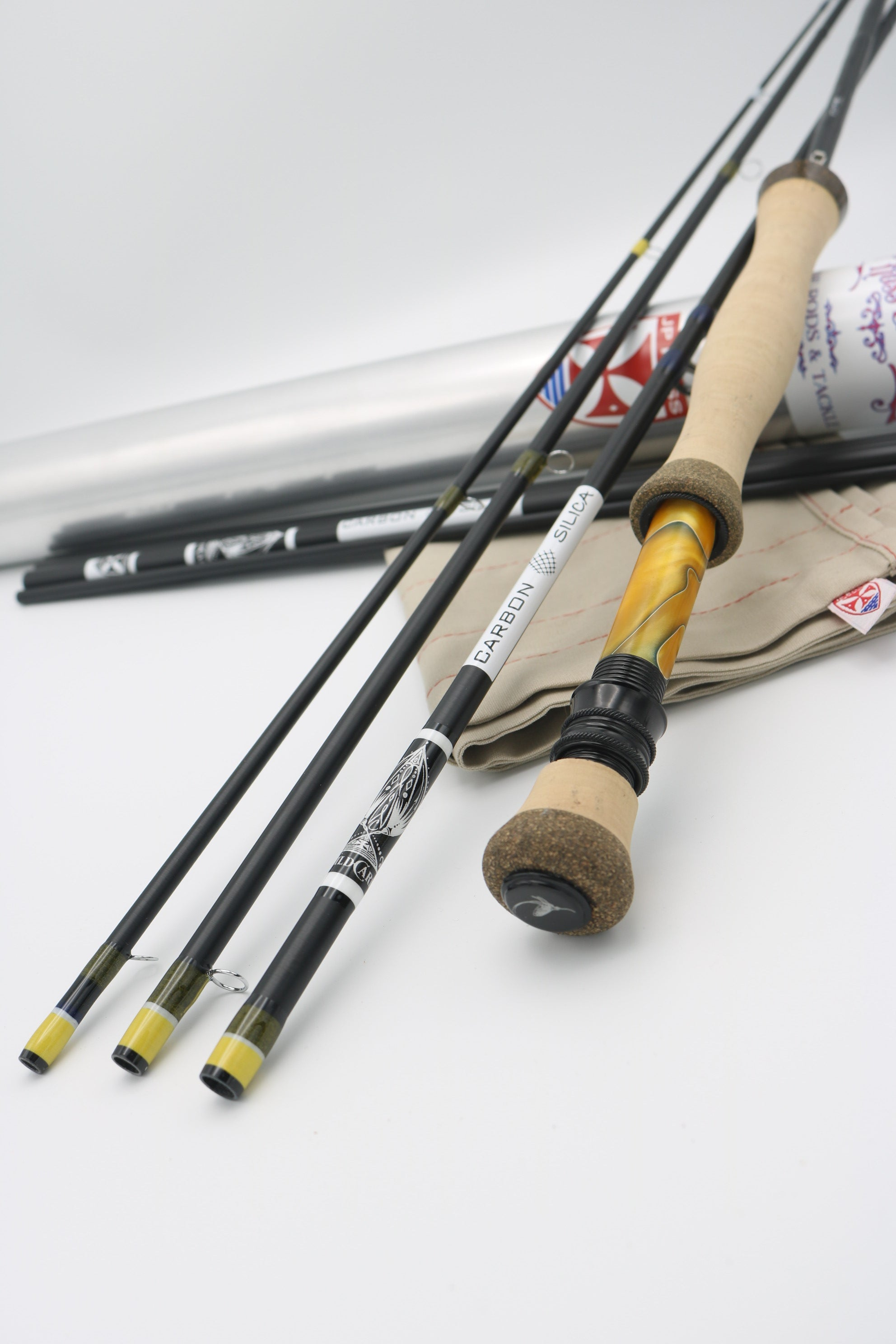 7 foot 5 wt 4 pc WILD CARD Carbon & Glass Hybrid fly rod
