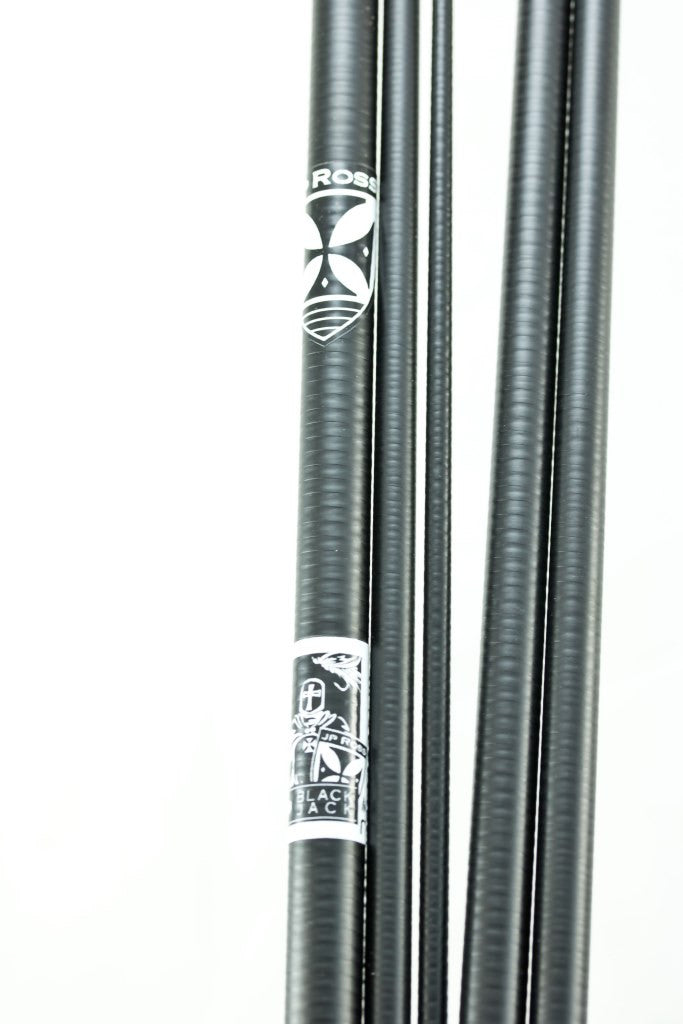 Black Jack Carbon Silica Fiberglass Hybrid 8 foot 6 inch 5/6 weight 5 piece blank only with Bag