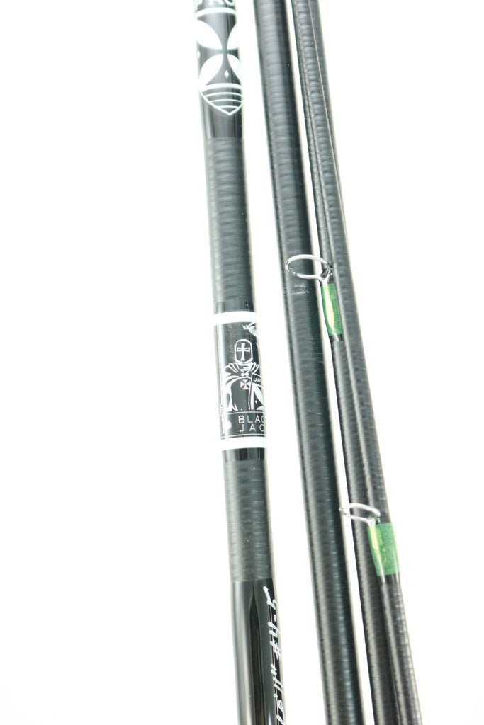 "Black Jack Wild Card 6'11"" #4-5 weight 4 piece Carbon Glass Hybrid: Silver Creek Theme"