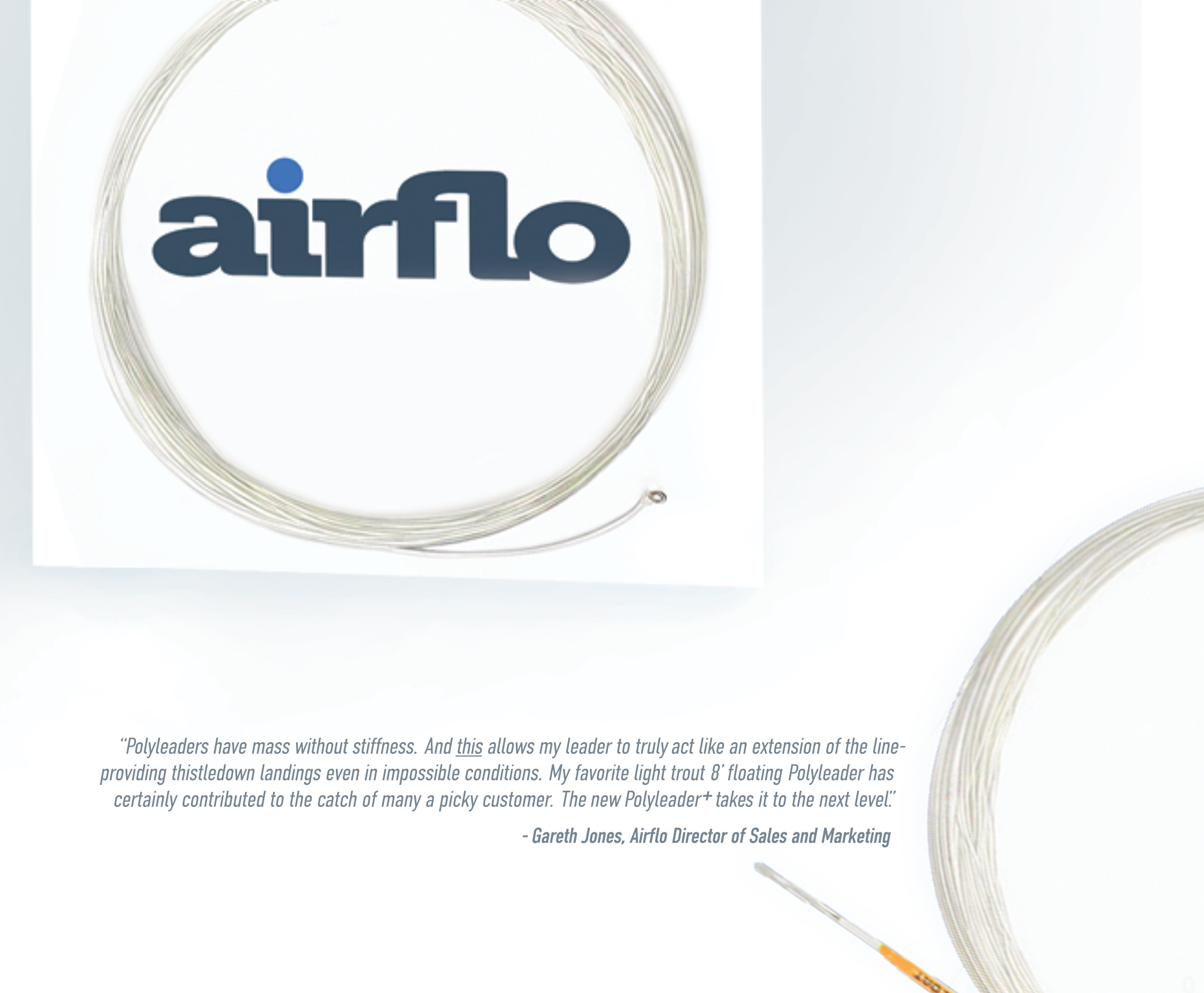 airflo polyleader PLUS 6.5 foot and 8.5 foot with tippet ring