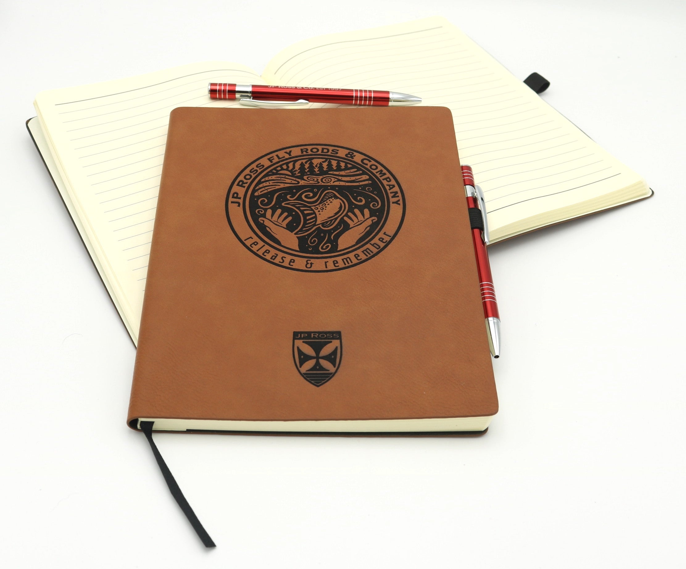 Release and Remember notebook logbook with pen