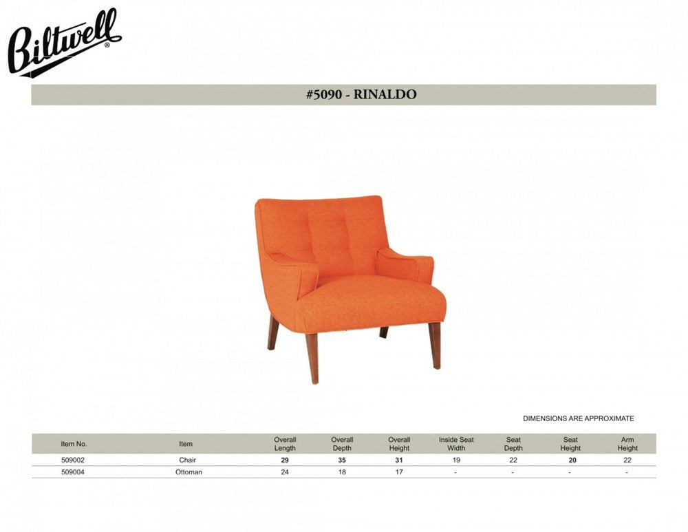 Biltwell Rinaldo Chair and Spec Sheet