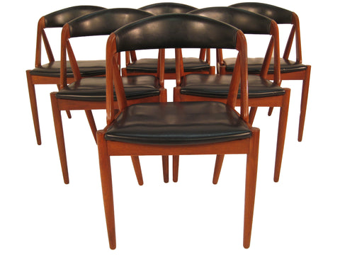 6 Kai Kristiansen Dining Chairs