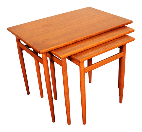 Swedish Teak Nesting Tables - Set of 3