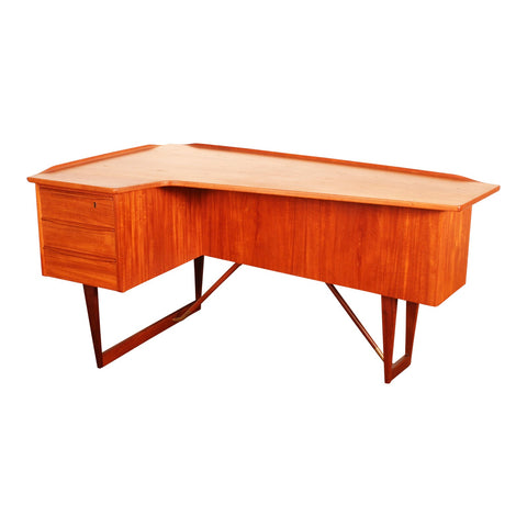 Peter Løvig Nielsen Teak Boomerang Writing Desk