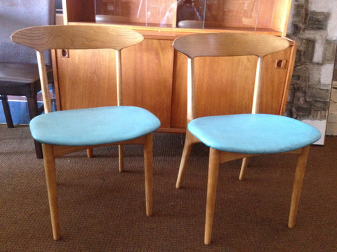 Set of Eight Danish Modern Dining Chairs